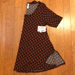 Lularoe perfect t shirt black orange Medium NWT
